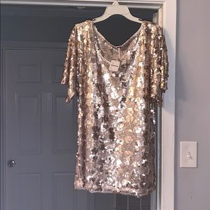 Free People Shimmering mini dress